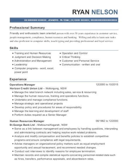 View Resume Operations Manager