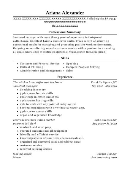 Best Gourmet Deli Clerk Resumes | ResumeHelp