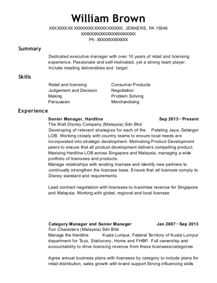 Best Category Manager And Senior Resumes