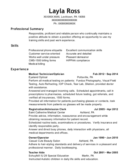 cosmetology instructor resumes