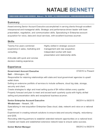 Best Senior Enterprise Account Manager Resumes | ResumeHelp