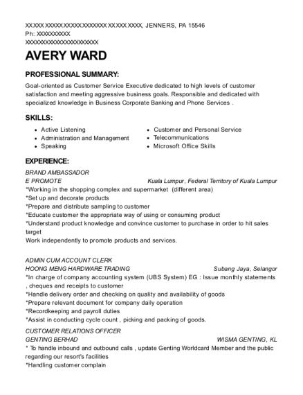 Best Admin Cum Account Clerk Resumes | ResumeHelp