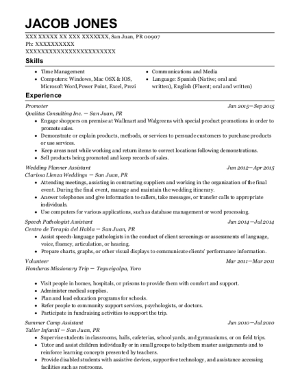 Para Educator , Speech Pathologist Assistant. Customize Resume · View Resume