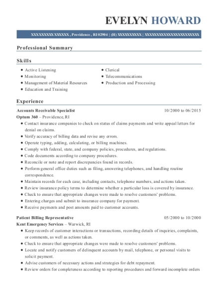 ... Billing Representative. Customize Resume · View Resume