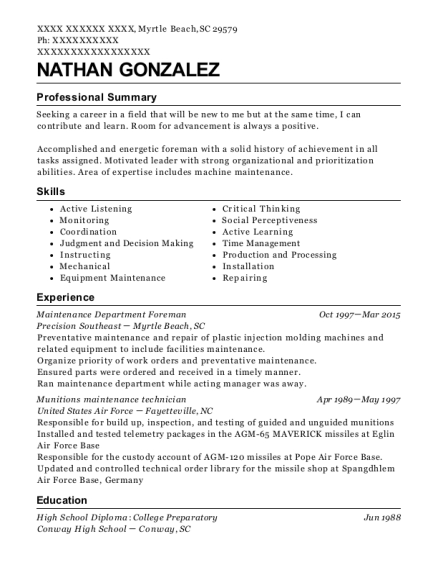 Fancy Myrtle Beach Accounting Resume Gift - Best Resume Examples by ...