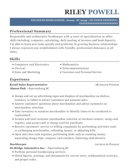 verizon wireless retail sales representative resume sample las