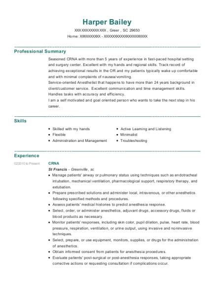 Best Crna Resumes ResumeHelp - Crna Resume