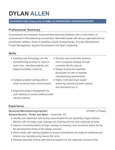 best advanced manufacturing engineer resumes resumehelp