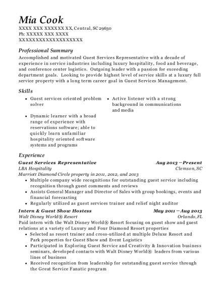 best lead concierge resumes resumehelp