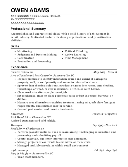 pest control service contract template fresh project manager resume