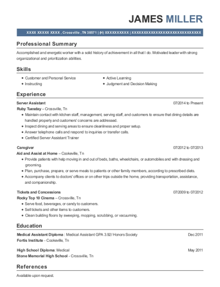 apple creek adult family home caregiver resume sample