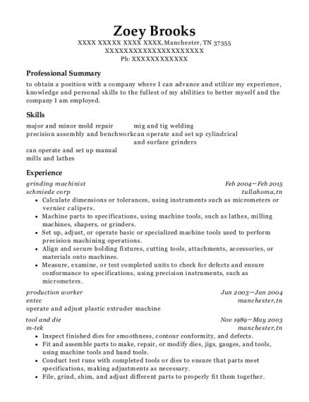 best tool and die resumes resumehelp