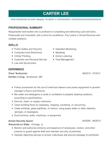 abm industries floor technician resume sample