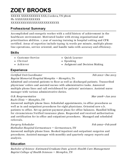 best surgery scheduler resumes