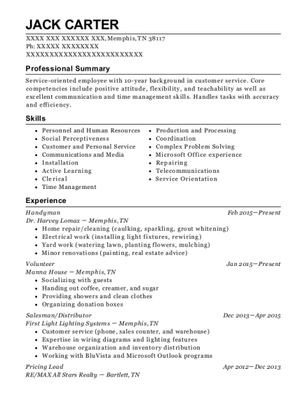 best package handler resumes in memphis tennessee resumehelp - Package Handler Resume