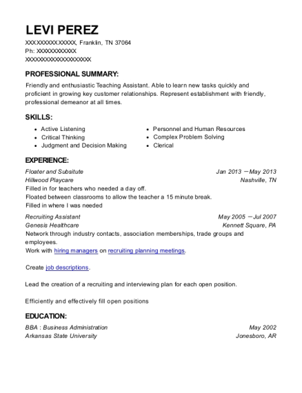 Recruiter Officeteam Contractor , Recruiting Assistant. Customize Resume ·  View Resume