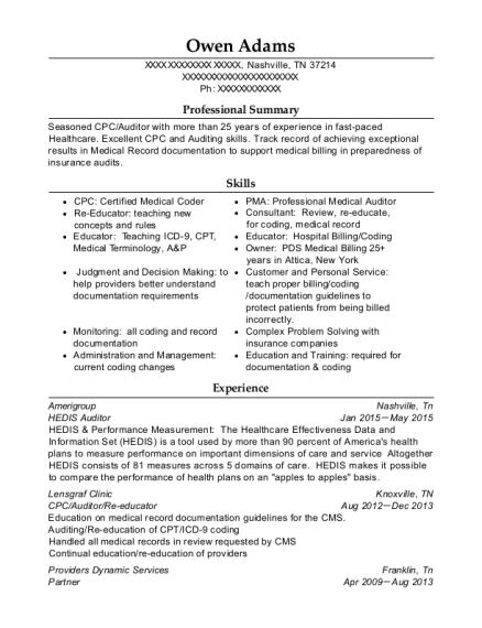 national medical billing services cpc resume sample festus