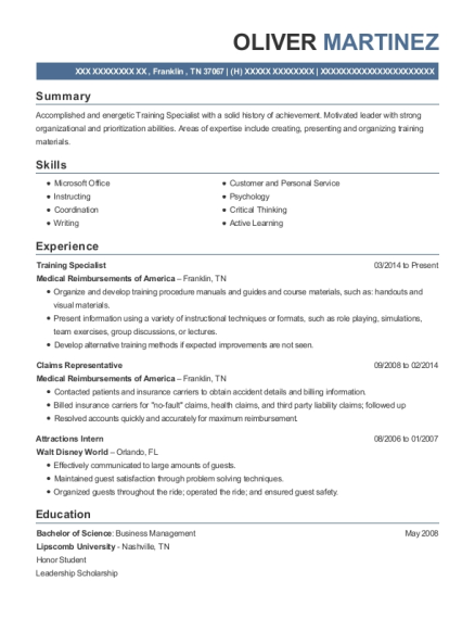 Marvelous View Resume