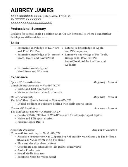 best sideline reporter resumes resumehelp