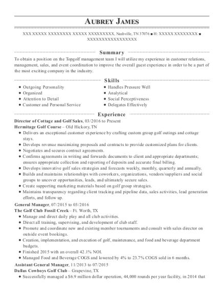 best assistant pga golf professional resumes resumehelp