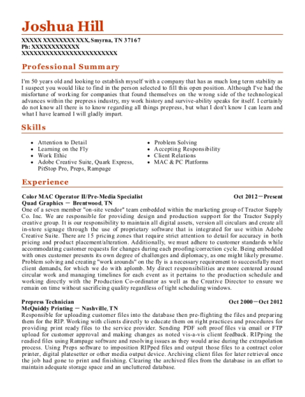 best prepress technician resumes resumehelp