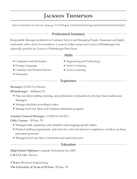 wawa inc assitant general manager resume sample manahawkin new