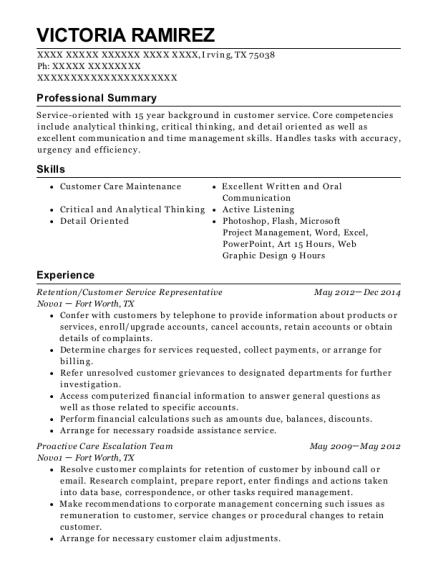 victoria ramirez - Quality Analyst Resume