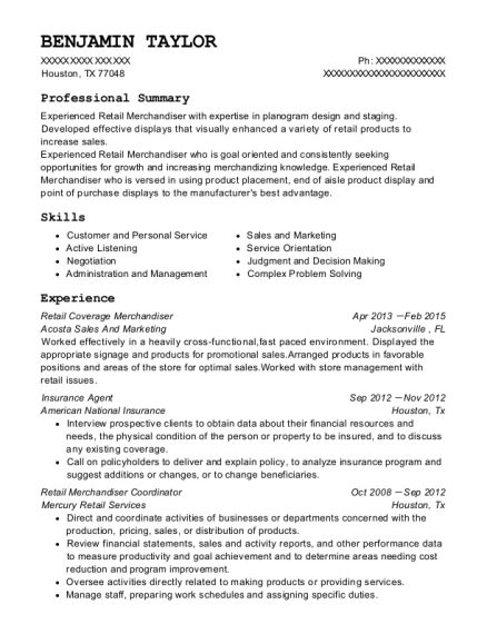 People Also Search For. Customize Resume  Merchandiser Resume