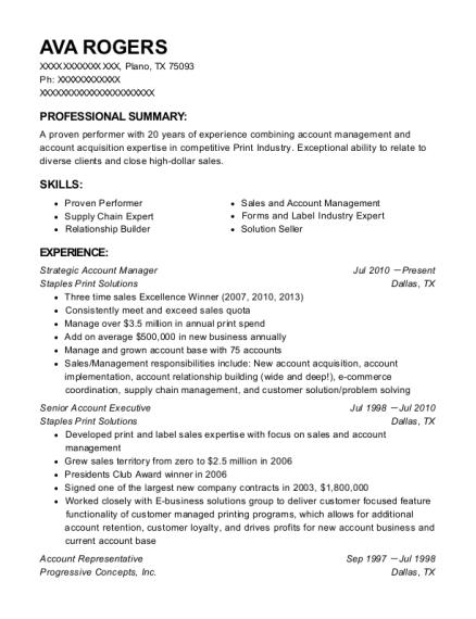 best strategic account manager resumes resumehelp