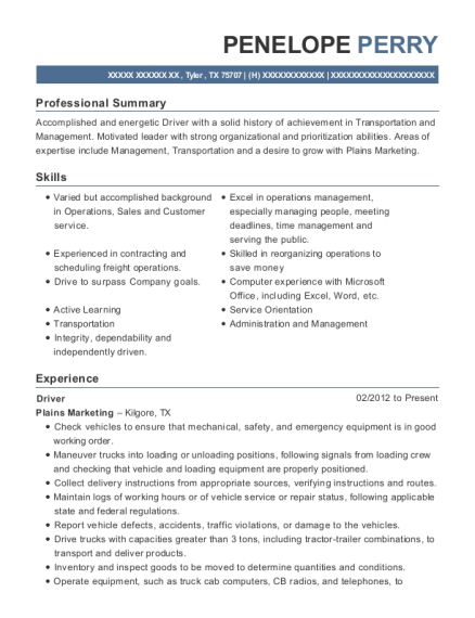 General Manager , Transportation Manager. Customize Resume · View Resume