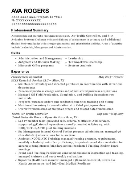 Air traffic control resume help
