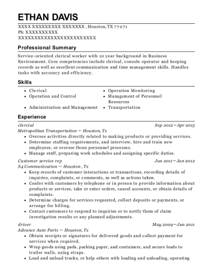 hunt refinery console operator resume sample