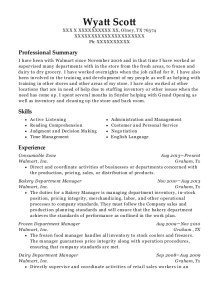 view resume - Department Manager Resume