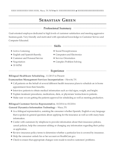 best bilingual customer service representative resumes