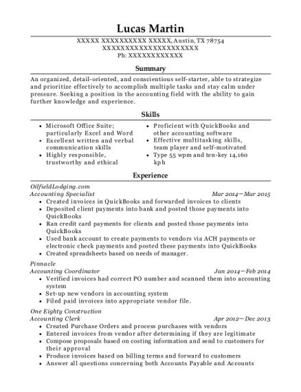 best accounting coordinator resumes  resumehelp