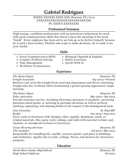 best tile installer resumes resumehelp