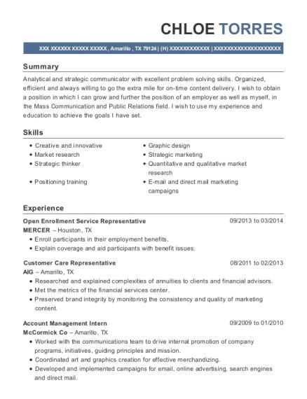 best account management intern resumes resumehelp
