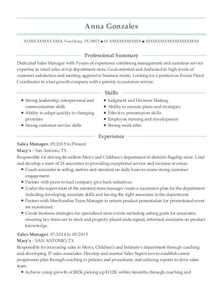 cosmetic counter manager resume - Muck.greenidesign.co