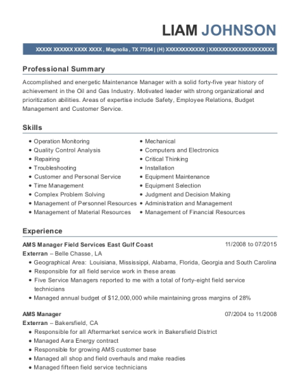 Best Offshore Operations Manager Resumes ResumeHelp