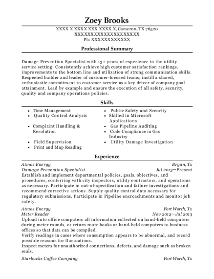 Beautiful Atmos Energy Resume Photo - Best Resume Examples by ...