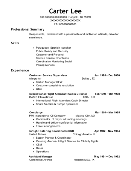 view resume - Beauty Advisor Resume