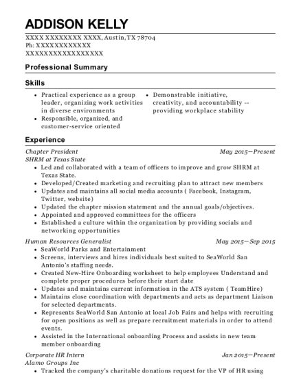 best corporate hr intern resumes resumehelp