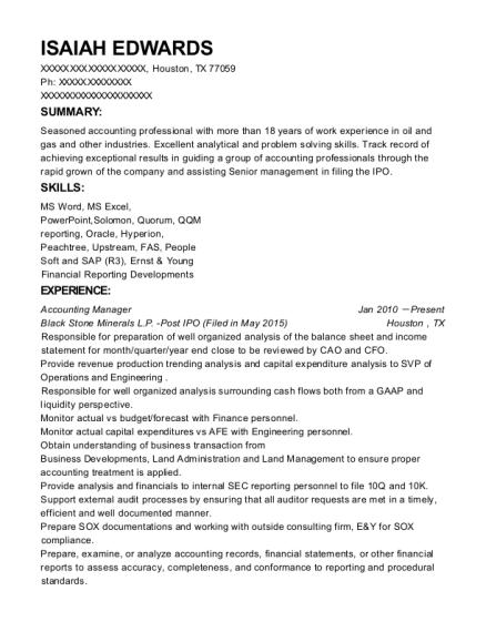 best revenue accountant resumes resumehelp