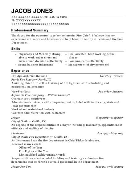 Best Mayor Resumes | ResumeHelp