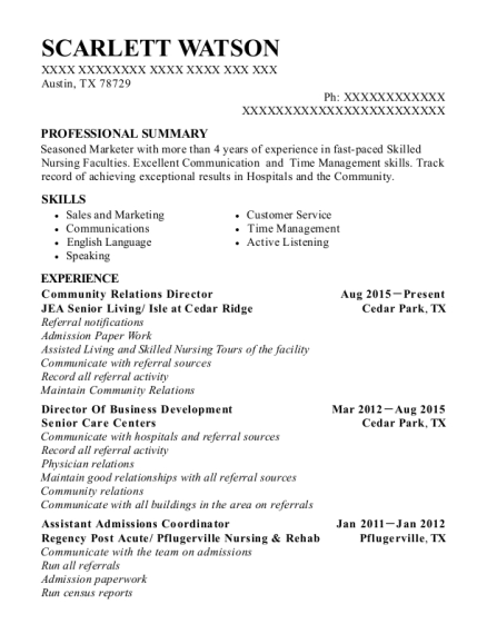 Best Assistant Admissions Coordinator Resumes | ResumeHelp