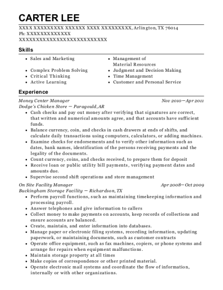Best On Site Facility Manager Resumes ResumeHelp