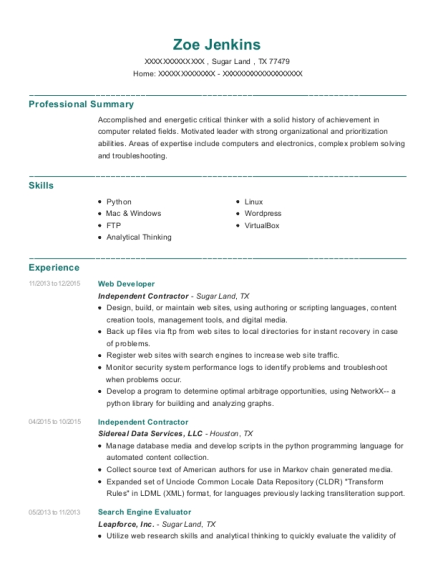 resume engine