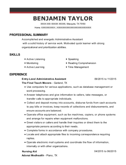Best Entry Level Administrative Assistant Resumes | ResumeHelp