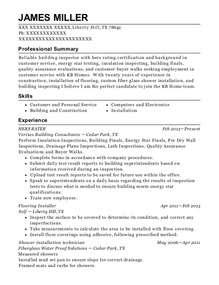 Best Hers Rater Resumes | ResumeHelp