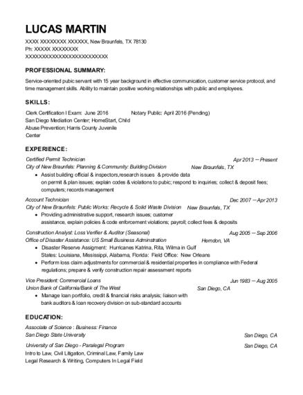 Best Certified Permit Technician Resumes | ResumeHelp